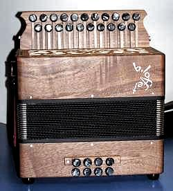 "Diatonic accordion ""Petit"" model.  